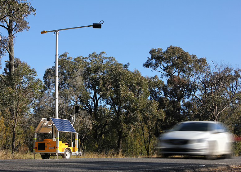 A Distracted Driving camera operating in NSW.